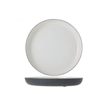 Cosy & Trendy Plate Alu 29cm White Enamel Grey Grahit