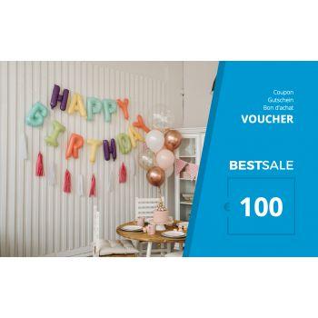 BestSale Shop Gutschein €25 – €500 / Birthday Balloon