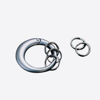 Point-Virgule round keyring with 5 mini rings