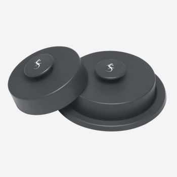 Lurch set of 2 plastic hamburger presses dark grey ø 10.8cm and ø 9.3cm