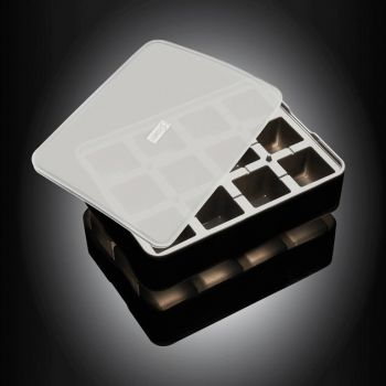 Lurch silicone ice cube tray with lid black 4x4cm