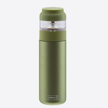 Lurch double-walled stainless steel tea bottle with infuser green 400ml