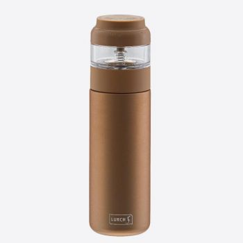 Lurch double-walled stainless steel tea bottle with infuser mocha 400ml