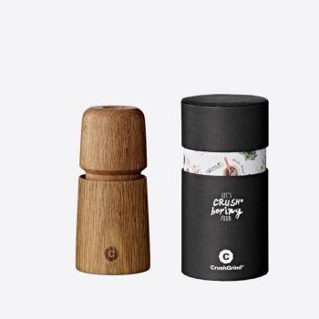 Crushgrind Stockholm Mini oak wood pepper or salt grinder brown 11cm