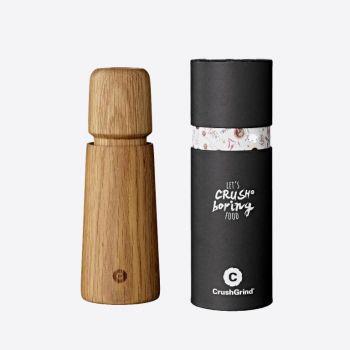 Crushgrind Stockholm oak wood pepper or salt grinder brown 16.8cm