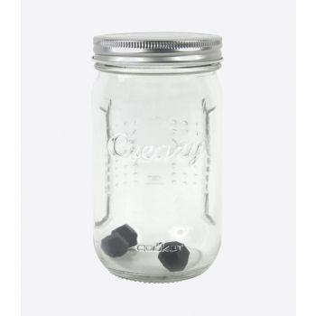 Cookut Creazy whipped cream shaker glass ø 9cm H 16cm