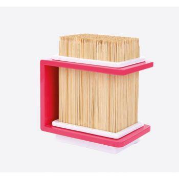 Cookut Fakir bamboo knives holder block pink 18x13x20cm