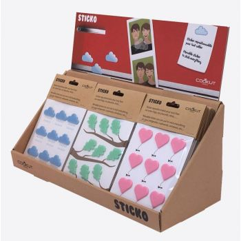 Cookut Sticko silicone stickers heart; cloud or leaf (18st./disp.)