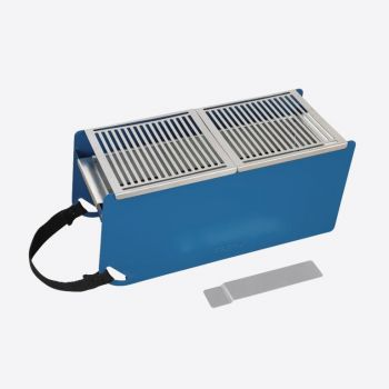 Cookut Yaki metal table barbecue blue 41x18x17cm