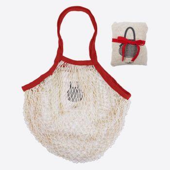 Cookut Sacha cotton netbag red; blue or brown (18pcs/disp.)