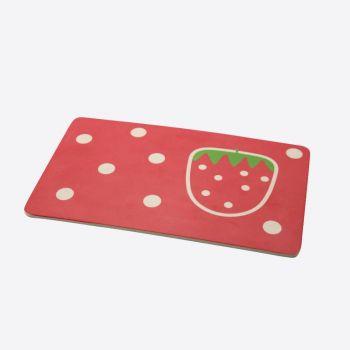 Dotz Kids bamboo fiber breakfast board Strawberry 23x14x0.3cm (per 10pcs)