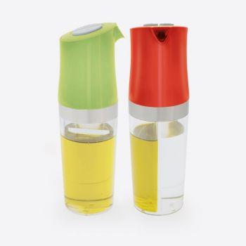 Dotz 2-in-1 oil and vinegar bottle red or green 180ml (8pcs/disp.)