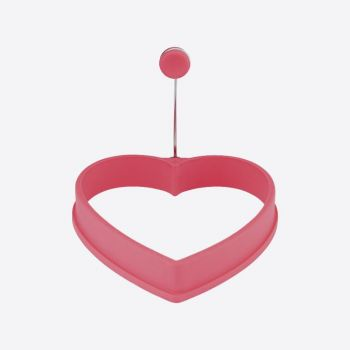 Dotz silicone eggring heart pink 11x11x2cm