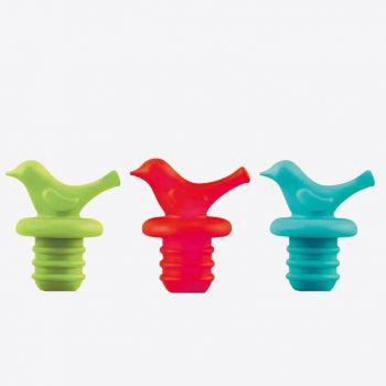 Dotz silicone bottle stopper blue; green or red (40pcs/disp.)