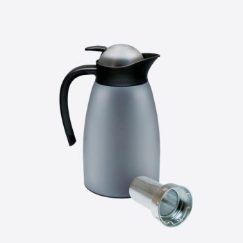Dotz double-walled vacuum flask with strainer grey 1.5L