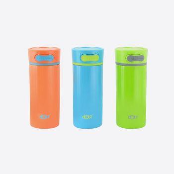 Dotz double-walled travel mug in stainless steel blue; green or orange 300ml (per 6pcs)
