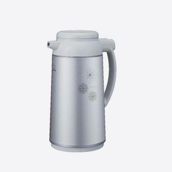 Zojirushi handy pot with glass interior body metalic grey 1L