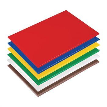 Hygiplas antibacteriële LDPE snijplanken set 450x300x10mm