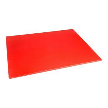 Hygiplas LDPE snijplank rood 600x450x10mm