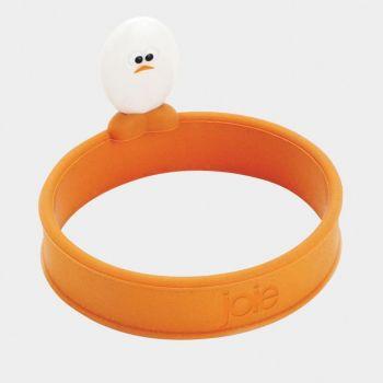 Joie Roundy egg ring in silicone orange Ø 12.7cm H 6.4cm