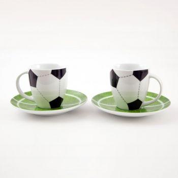 Könitz set of 2 mugs Senseo soccer