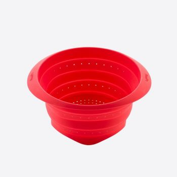 Lékué colapsable silicone strainer red Ø 18cm