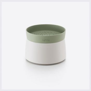 Lékué rice & quinoa cooker for microwave in silicone and plastic white and green Ø 13cm H 17.8cm