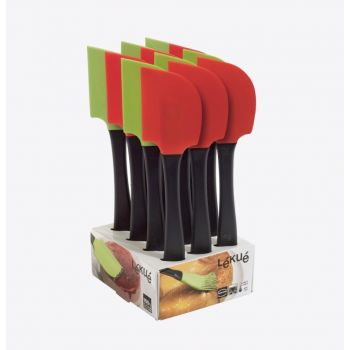 Lékué spatula in silicone and plastic green or red 27.5cm (12pcs/disp.)