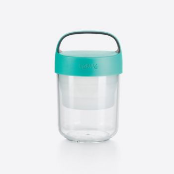 Lékué snackbox Jar To Go with colapsable compartiment in Tritan mint green 400ml