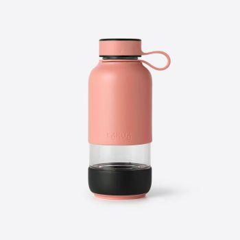 Lékué Bottle To Go glass drinking bottle coral 600ml