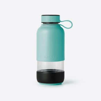 Lékué Bottle To Go glass drinking bottle turquoise 600ml