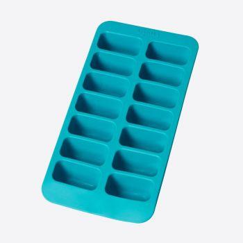 Lékué rubber ice cube tray for 14 rectangular ice cubes aquablue 22x11x3.5cm