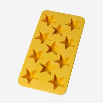 Lékué rubber ice cube tray for 11 ice cubes stars yellow 22x11x2.3cm