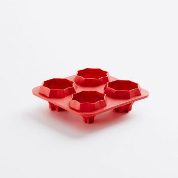 Lékué Origami Bites Piramids silicone baking mould for 4 fortune cookies 14x14x4.1cm