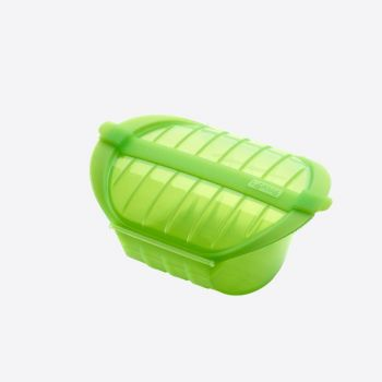 Lékué steam case for microwave for 1-2 persons in silicone green 21.2x15.5x8.5cm