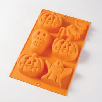 Lékué silicone baking mold for 6 Halloween cakes orange 30x19.5x3.8cm