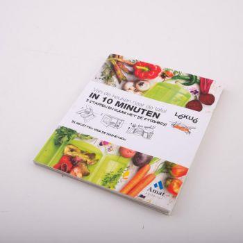 Lékué cookbook 'Van de keuken tot de tafel in 10 minuten' NL