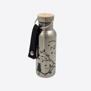 Nubento stainless steel vacuum flask with bamboo lid Cat 500ml
