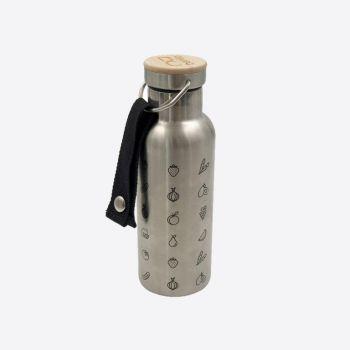 Nubento stainless steel vacuum flask with bamboo lid Fruit 500ml