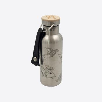 Nubento stainless steel vacuum flask with bamboo lid Fish 500ml