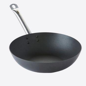 Point-Virgule carbon steel wok with Excalibur non-stick coating ø 30cm