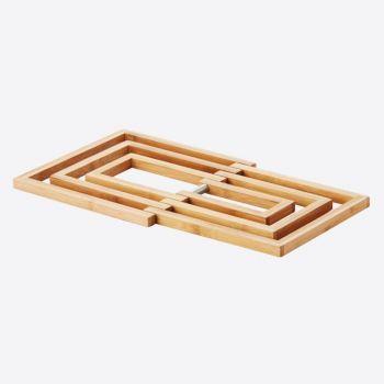 Point-Virgule bamboo trivet 19x19x1.2cm