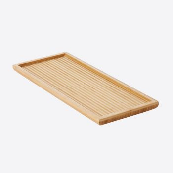 Point-Virgule bamboo serving tray with relief small 38x15.5x2cm