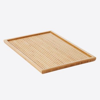Point-Virgule bamboo serving tray large with relief 38x25x2cm