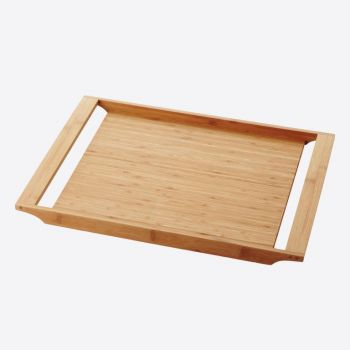 Point-Virgule bamboo serving tray with handles by Mathias De Ferm 47x35x3cm