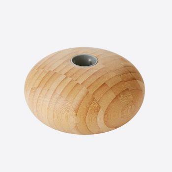 Point-Virgule bamboo candle holder ø 11cm H 5.5cm