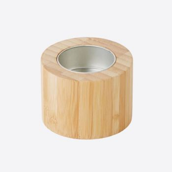 Point-Virgule bamboo tea light holder ø 7cm H 5cm