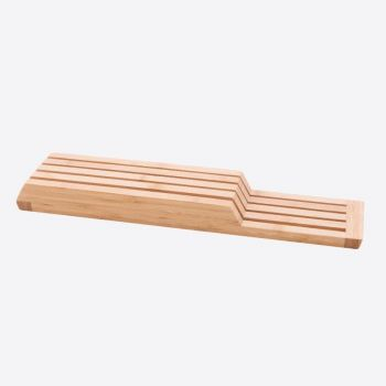 Point-Virgule bamboo kniveblock for drawer 43x9.5x4cm