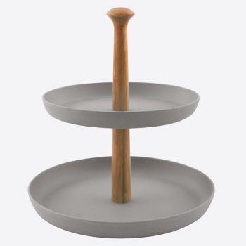 Point-Virgule bamboo fiber server cement grey ø 19cm & ø 24cm