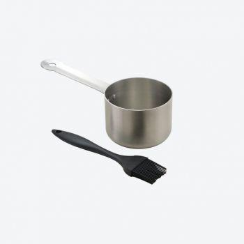 Point-Virgule saucepot with brush 23x7.5x10.5cm